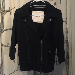 Abercrombie & Fitch navy blue moto jacket